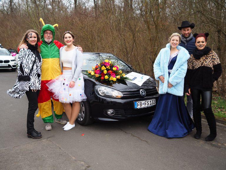 Kurt Liebermeister mit seinen schicken Damen (ehemalige und amtierende Quellenköniginnnen)
