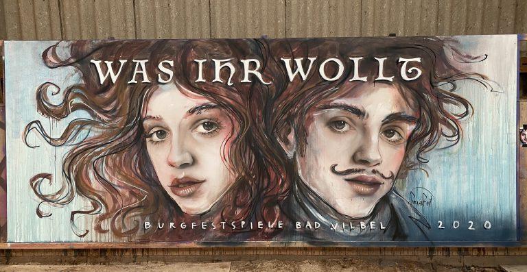 Anbei die diesjährigen Arbeiten von HERAKUT für die Burgfestspiele.