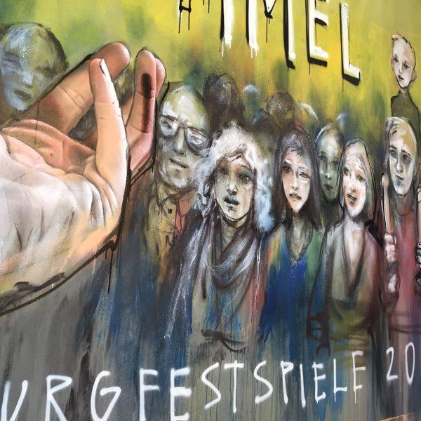 Herakut gestalten die Plakate der Burgfestspiele